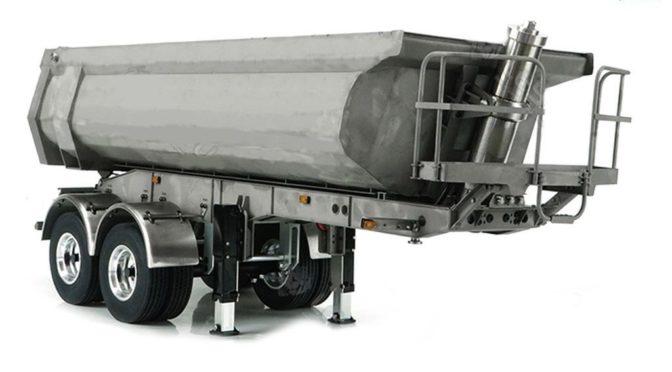 Rundmulden-Auflieger 2-Achs mit Hydraulik thicon-models