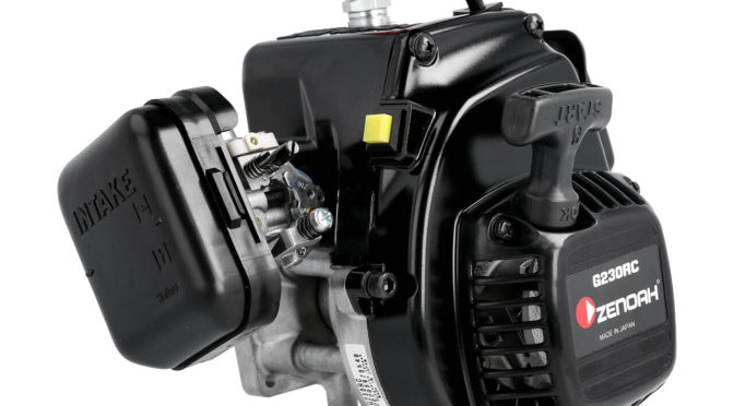 Zenoah G230RC Motor 23ccm mit Kupplung, Filter, Reso
