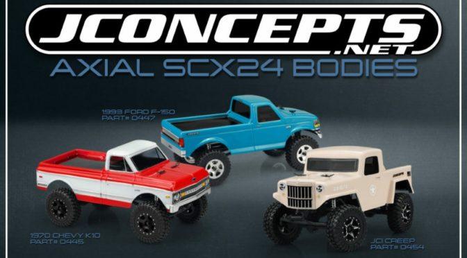 Neue Axial SCX24 Karosserien von JConcepts