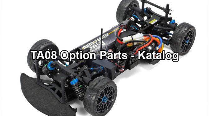 Die Option Parts vom Tamiya TA08 Pro Chassis Kit aufgelistet