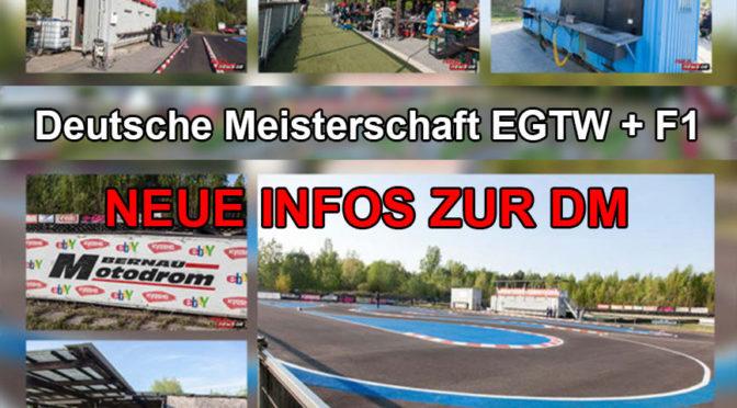 Aktuelle Infos zur DM EGTW + F1 beim RC-Speedracer