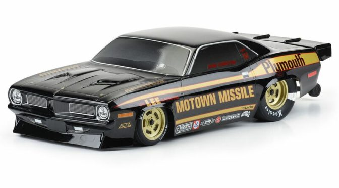 1/10 1972 Plymouth Barracuda Motown Missile Black